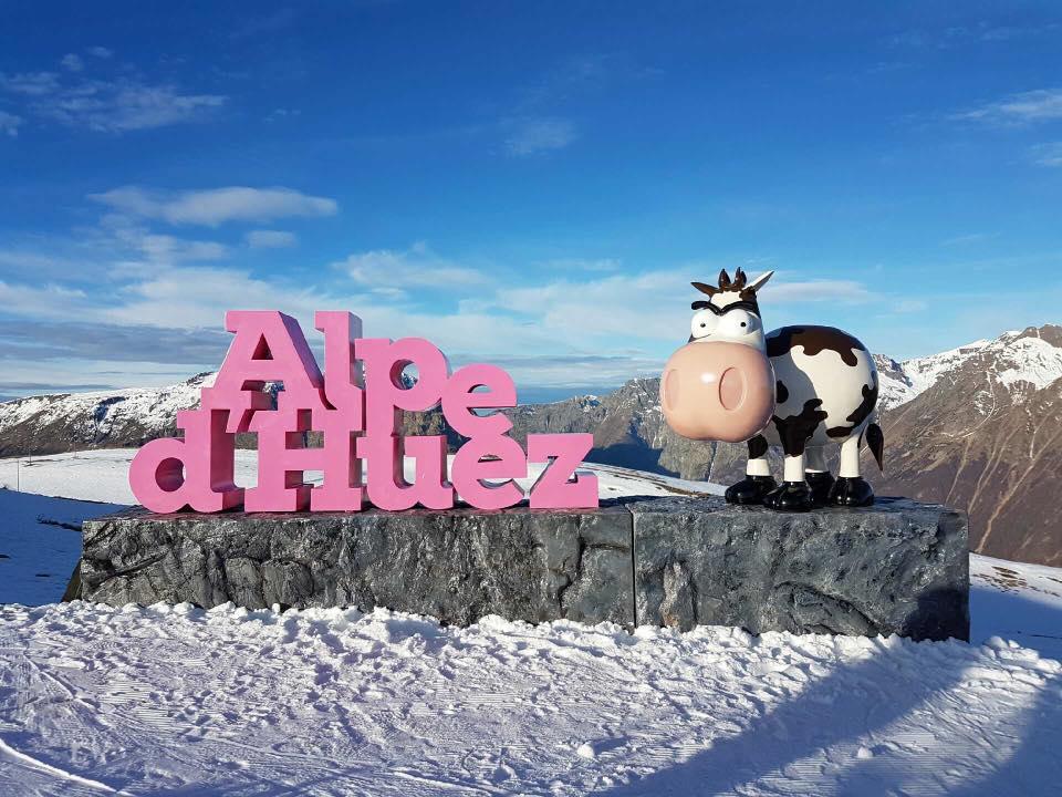 """Sculpture Alpe d'huez""""la vache Marcel"""""""