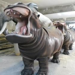 Hippopotame résine