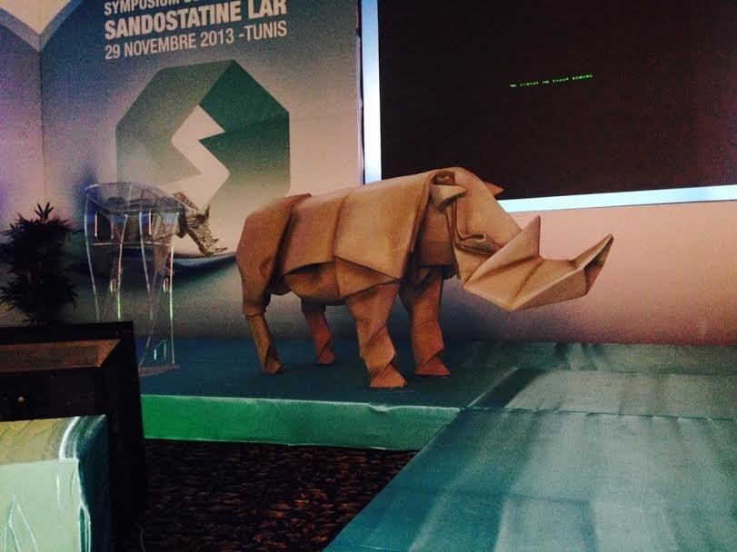 Origami Rhinocéros